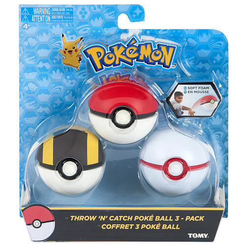 Pokemon 3 Pack Throw 'N' Catch Poke Balls Playset