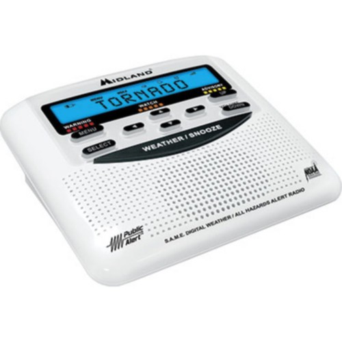 Midland Emergency Radios, Weather Alert Radio with Alarm Clock