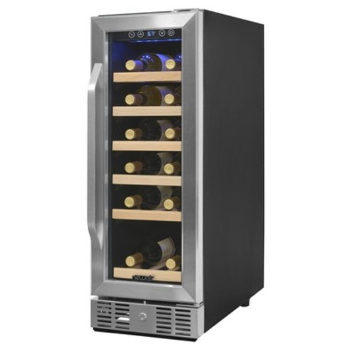 Air - 19-Bottle Wine Cooler - Stainless steel