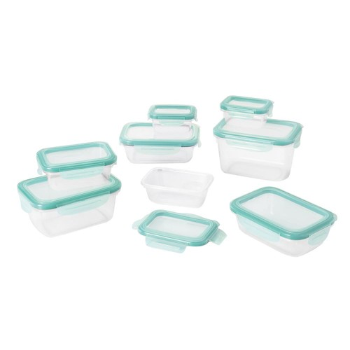 OXO Good Grips 16 Piece Smart Seal Plastic Leakproof Food Storage Container Set [16-Piece Set]