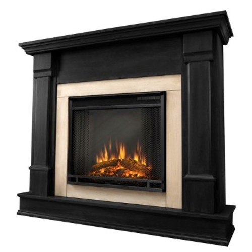 Real Flame Silverton 48 in. Electric Fireplace in Black