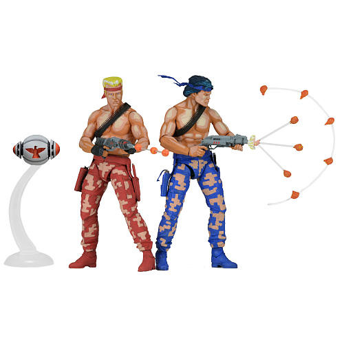 NECA Contra 2 Pack 7 inch Scale Action Figures - Bill and Lance (Video Game Appearance)