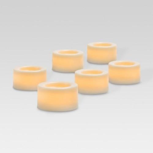 White LED 6 Pack Tea Lights - Threshold