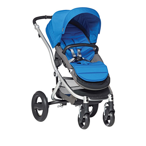 Britax Affinity Silver Stroller with Sky Blue Color Pack