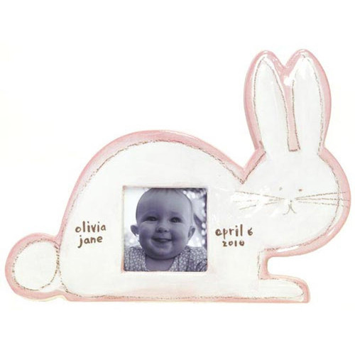 Children's Character Picture Frame [Design : Pink Bunny Character]
