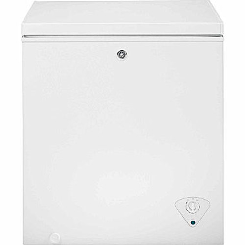 GE 5.0 cu. ft. Manual Defrost Chest Freezer in White
