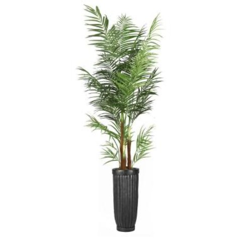 Laura Ashley 97 in. Tall Areca Palm Tree in Planter