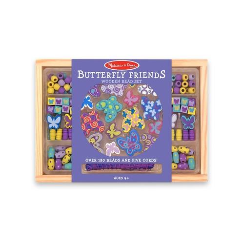 Melissa & Doug Butterfly Friends Wooden Bead Set