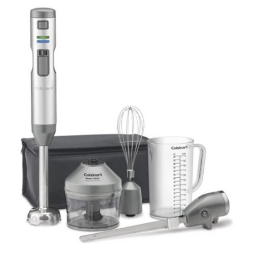 Cuisinart Smart Stick Variable Speed Cordless Rechargeable Hand Blender with Electric Knife CSB300