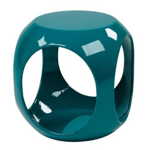 Ave Six Slick Cube Blue End Table