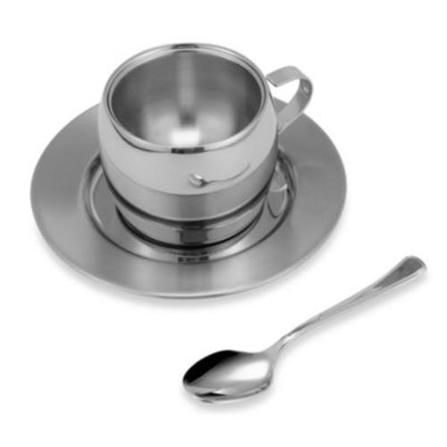 Stainless 3-Piece Espresso Set