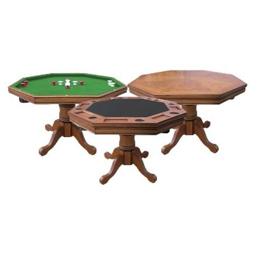 Hathaway Poker Table - Dark Oak
