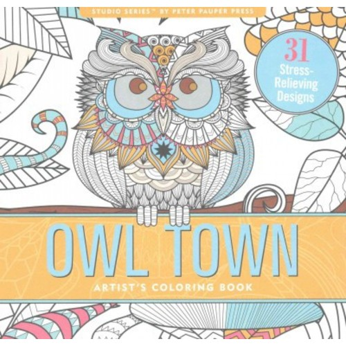 Owl Town: Artist's Coloring Book (Paperback)