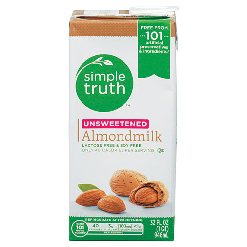 Simple Truth Unsweetened Almondmilk -- 32 fl oz
