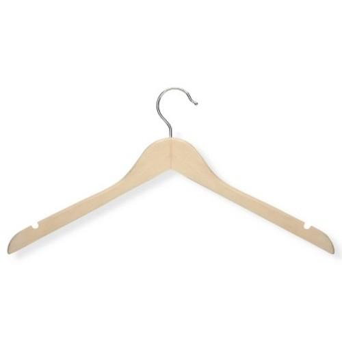 Honey-Can-Do HNGT01212 Basic Shirt Hangers Maple, 20-Pack [Maple]
