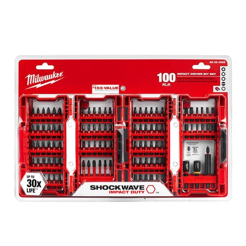 Milwaukee Shockwave Impact Duty Driver Bit Set (100-Pieces)