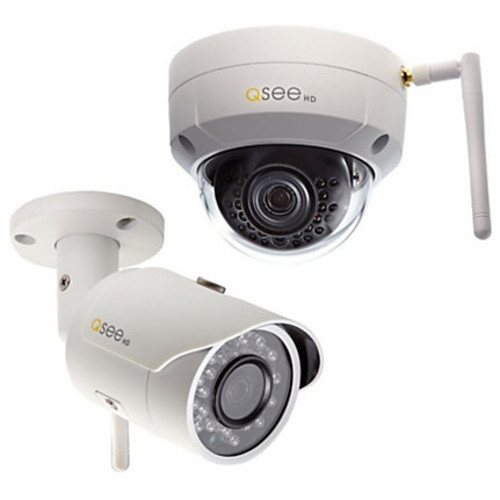 Q-see 3MP Wi-Fi (1) Bullet and (1) Dome Security Camera with 2 16GB microSD Card Included (2-Pack)