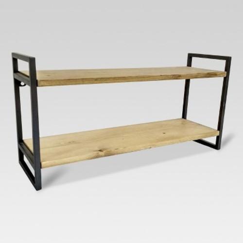 Double Wall Shelf with Gunmetal Finish - Medium - Threshold