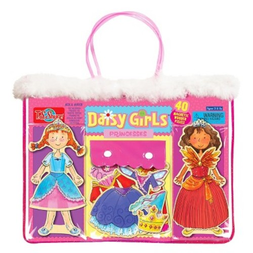 T.S. Shure Daisy Girls Princesses Wooden Magnetic Dress-Up Dolls Set