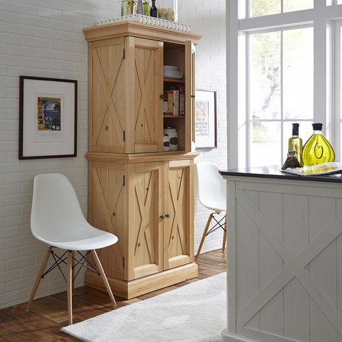 Home Styles Country Lodge Pine Storage Pantry