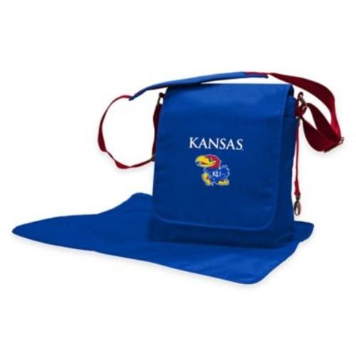 Lil Fan University of Kansas Messenger Diaper Bag