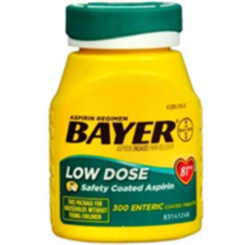 Bayer Baby Aspirin Regimen Low Dose, 300 tabs by Bayer