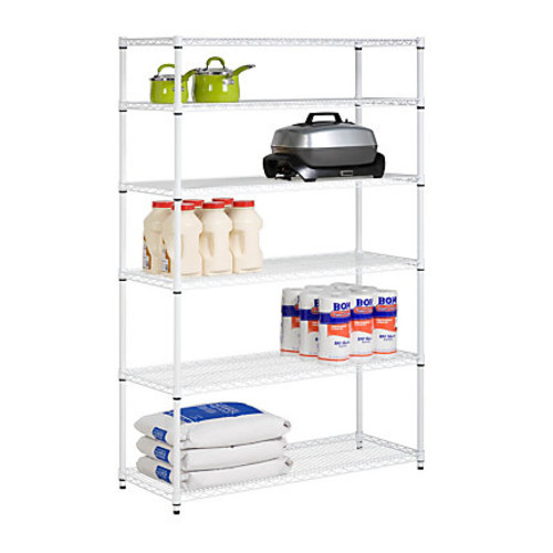 Honey-Can-Do NSF Steel Adjustable Storage Shelving Unit, White