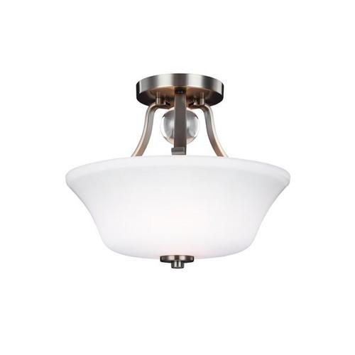 Feiss Evington 2 - Light Semi-Flush, Satin Nickel