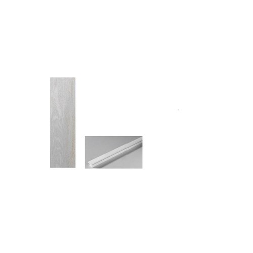 Grosfillex Element Wood 1/4 in. x 6 in. x 48 in. White Resin Decorative Wall Panel (Bundle Pack)
