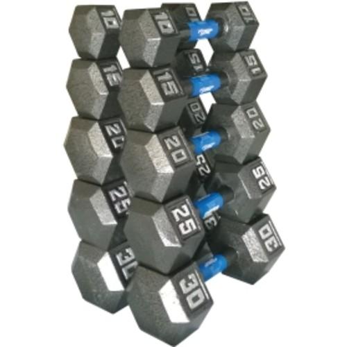 Fitness Gear Cast Hex 10-30 lb Dumbbell Set