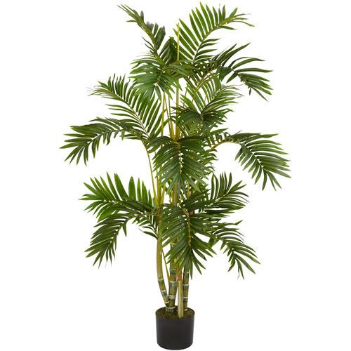 Nearly Natural 5336 Areca Palm Silk Tree, 4-Feet, Green [Green, 4']