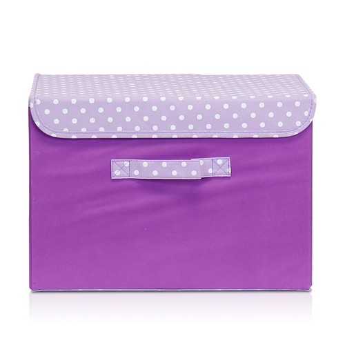 Llytech Inc Non-Woven Fabric Purple Storage Bin with Lid