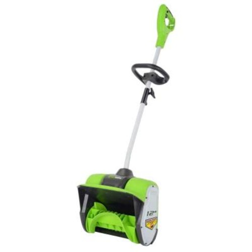 Greenworks 12 in. 8 Amp Electric Snow Blower Shovel