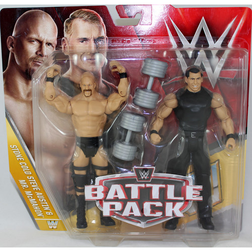 WWE Mr. McMahon & Stone Cold Steve Austin - Battle Packs 40 Toy Wrestling Action Figures