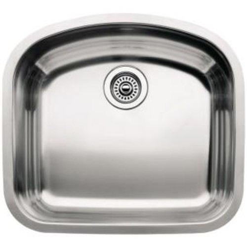 Blanco Wave Undermount Stainless Steel 22 in. Single Bowl Kitchen Sink