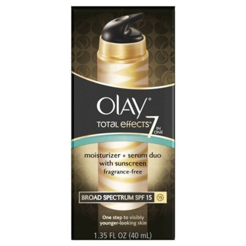 Olay Total Effects 7-in-One Moisturizer + Serum Duo with Broad Spectrum SPF 15 FRAGRANCE FREE - 1.35 oz