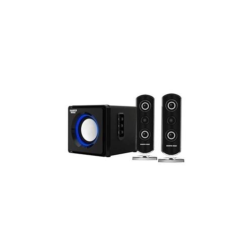 Sharper Image SBT2002BK 2.1 Computer Speakers with Subwoofer, Bluetooth, LED Ambient Light (Black)