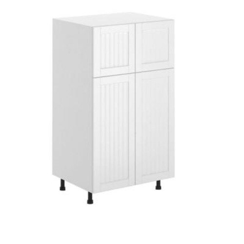Eurostyle Odessa Ready to Assemble 30 x 49 x 24.5 in. Pantry/Utility Cabinet in White Melamine and Door in White