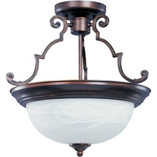 Alcott Hill Avis 3-Light Semi-Flush Mount; Oil Rubbed Bronze