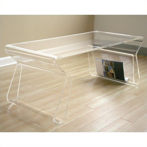 Baxton Studio Coffee Table in Clear