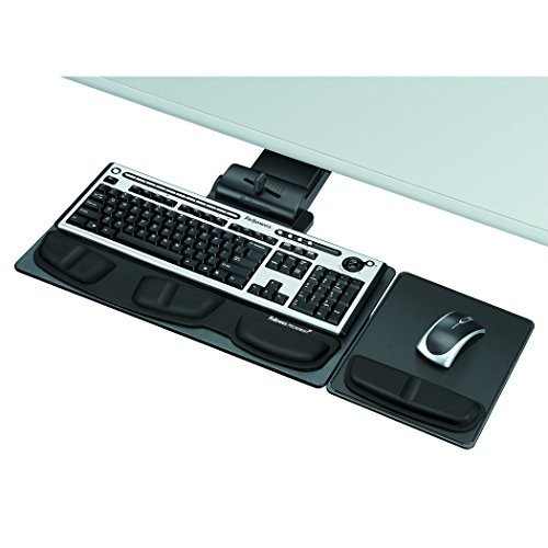 Fellowes 8036101 Professional Executive Adjustable Keyboard Tray, 19w x 10-5/8d, Black