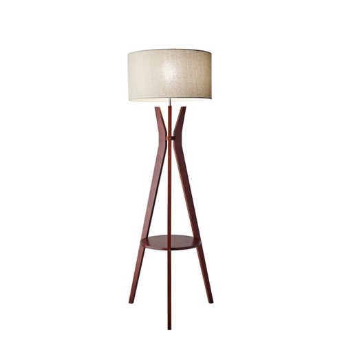 Adesso Bedford Shelf Floor Lamp, 59 1/2