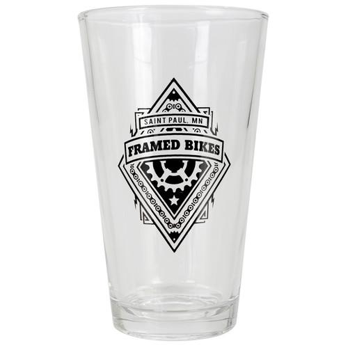 Framed Pint Glass