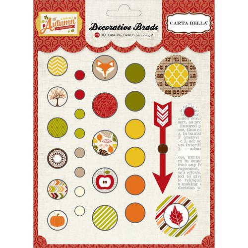 A Perfect Autumn Decorative Brads-