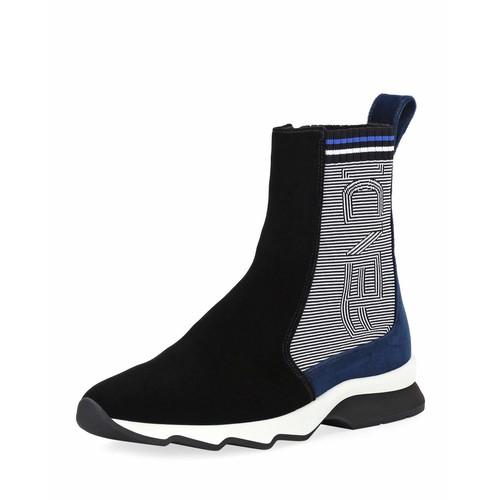 FENDI Suede & Knit Sneaker Boot