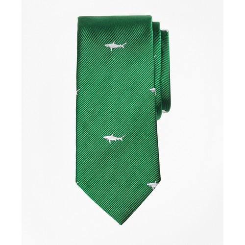 Shark Print Silk Tie
