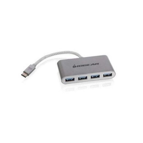 IOGEAR USB-C to USB 3.0 Hub  USB 3.1 Type-C Male To 4x USB 3.0 Type-A Female, Up to 5Gbps data Transfer Speed, Backwards compatible with USB 2.0 & USB 1.1, Plug-and-Play - GUH3C14