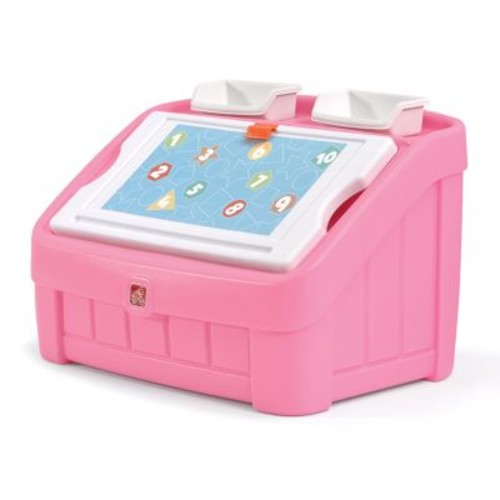 Step2 Pink 2-in-1 Toy Box & Art Lid