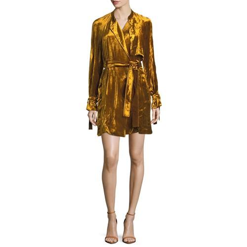 A.L.C. Kendall Velvet Trench Dress