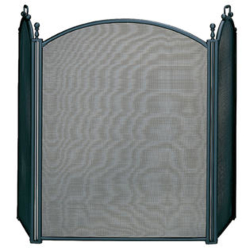 UniFlame S-3652 3 Fold Large Diameter Black Screen w - Woven Mesh